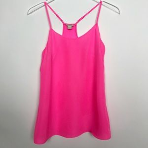 J. Crew Factory racer back tank top pink size 0